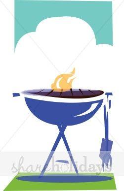 Blue BBQ Weber Clipart