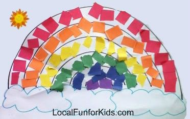 Mosaic Rainbows ~ Easy Preschool Craft  - Crafts & Activities for Kids - LocalFunForKids Best Blogs for Local Fun, Easy Recipes, Crafts & Motherhood