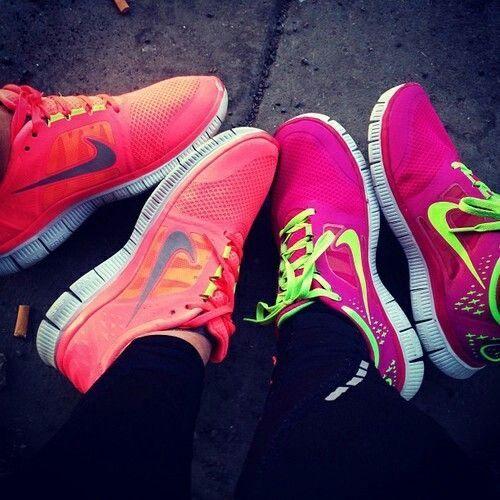 Custom Roshes, Womens Nike Roshe Custom, White on White, pink, teal, trendy design, all white nike roshe