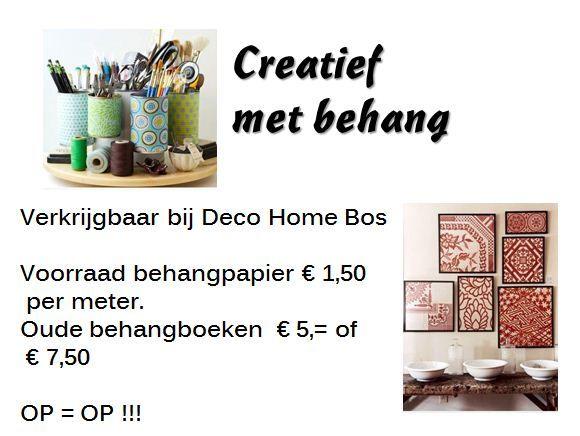 Creatief met behang. Oude behangboeken € 5,= /€ 7,50 verkrijgbaar bij Deco Home Bos in Boxmeer. Voor vragen mail info@decohomebos.nl