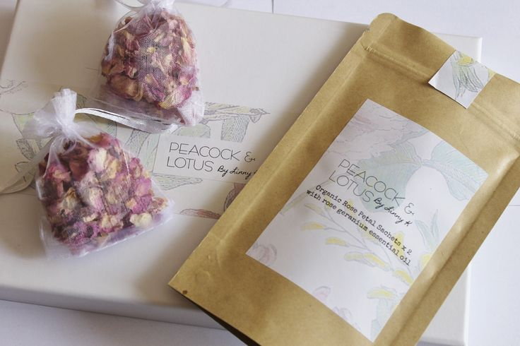 Organic Rose Petal Drawer or Closet Sachets with Rose Geranium Essential OilThese lovely scented sachets will have your clothes smelling fresh as a daisy.... oops I mean lavender.You will receive two scented rose petal bags with dried organic rose petals and added rose geranium essential oil for a long lasting scent. These little bags can be re-used - just add your own essential oil once the scent has faded. Should last approximately 6 months once removed from the foil lined packaging.Made…