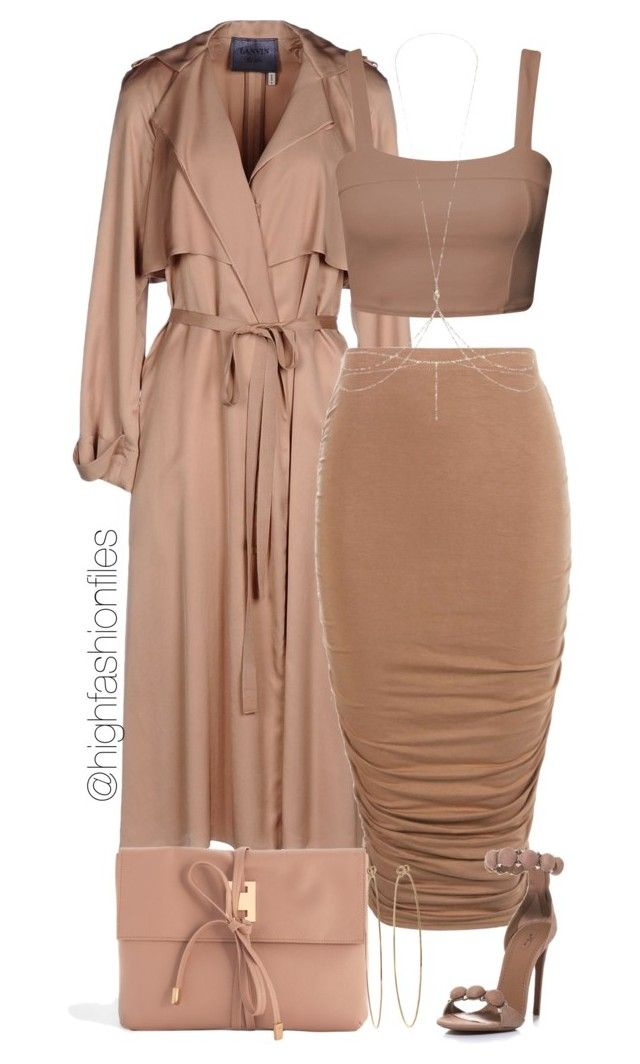 """""""Light Brown"""" by highfashionfiles ❤ liked on Polyvore featuring Lanvin, Alaïa, ASOS and Dean Harris"""