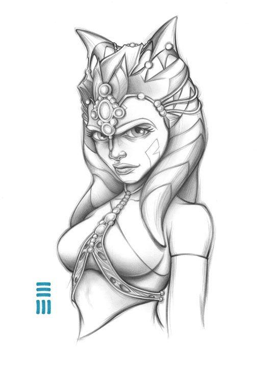 Ahsoka Tano Slave Girl Preliminary Sketch by Erik-Maell.deviantart.com on @DeviantArt