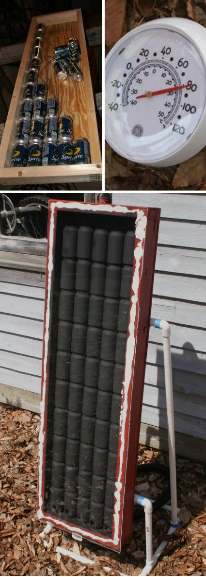Pop can solar collector crafts tips and diy pinterest for Diy solar collector