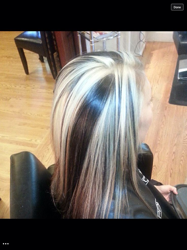 Chunky Highlights Dark Brown And Platinum My Work Pinterest Chunky Highlights Highlights And Dark Brown