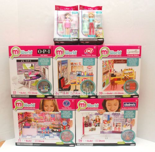 Miworld Mini 5 Playset Claire's OPI Nail Salon Sprinkles Candy Store MI World | eBay