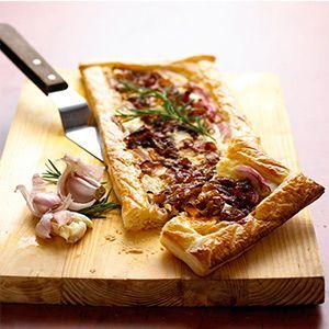 Creamy Caramelised Onion & Cheese Tart