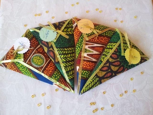 Beautiful wedding favors- Blog de kellydeco :KELLY DECO, cornets tissu africain tissu wax