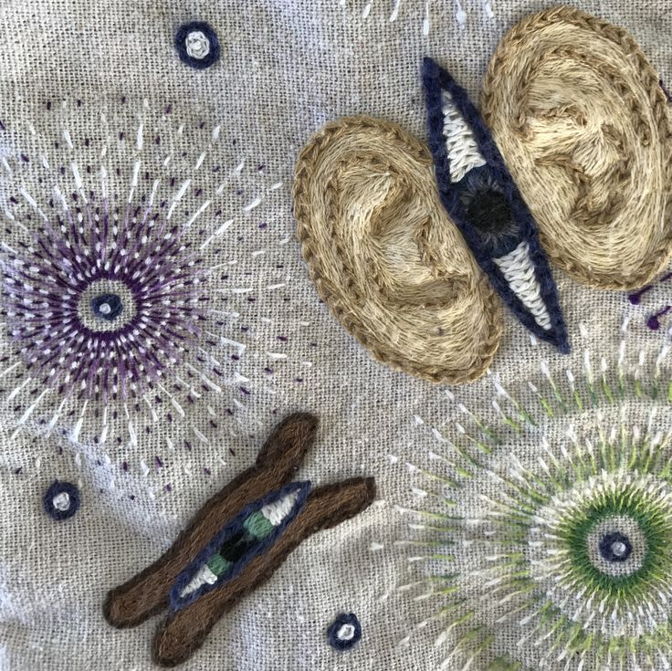 Hand embroidery by @animaytey: Sound and Vision (detail)