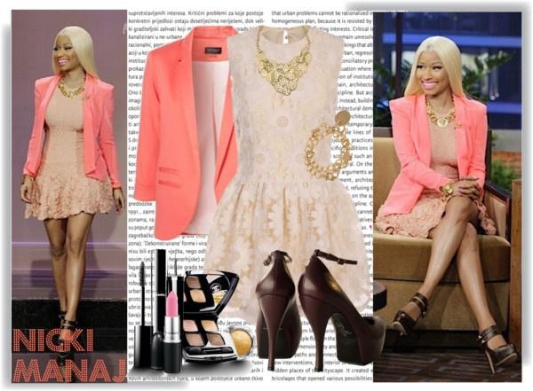 """Nicki Manaj Jay Leno Appearance"" by fabulousfashionzanddesignz on Polyvore"