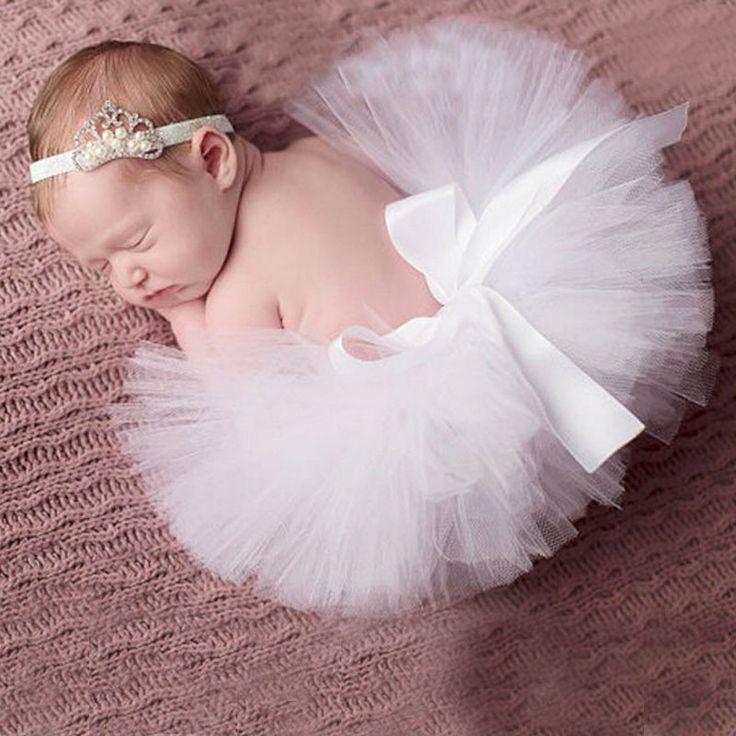 Newborn Tutu Skirt with Tiara Headband