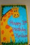 Giraffe Birthday Cake