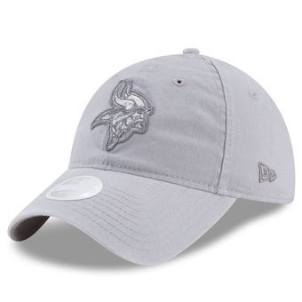 new arrivals 097e8 3b70e Women s New Era Gray Minnesota Vikings Team Glisten 9TWENTY Adjustable Hat