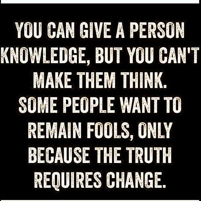 Learn fool, change is needed