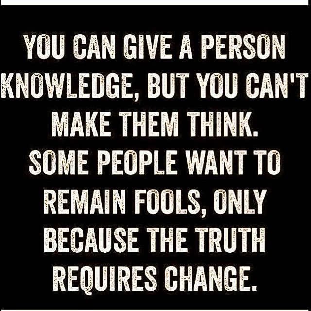 Learn fool, change is needed