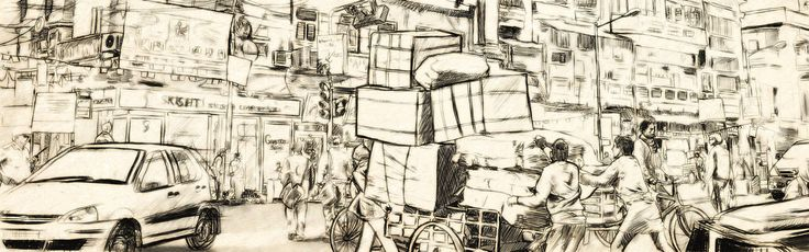 India Calcutta illustration #illustration #art #paulmckeown #sketch #tradigital