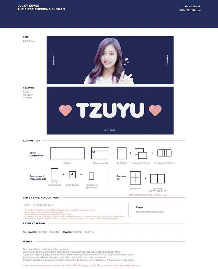 [MALAYSIA GO] '17 LUCKY EEVEE CHEERING SLOGAN by @chouTZUYU_com #Twice #Tzuyu Dateline: 05.03.17 If you interested to join kindly whatsapp me at 0164493656 or dm We will give you more detail about the group order and the gift . You can request any fansites goods at me. Just send the the fansites goods example pic or fansites name and we will contact the admin whether we can open the GO for MY . All price inc postage Every purchased will be given a free gift GO hve 2 payment : goods…