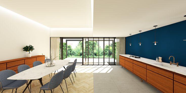 Ontwerp keuken eetkamer jaren 39 30 woonhuis te maastricht meer info http www - Ouderlijke badkamer ...