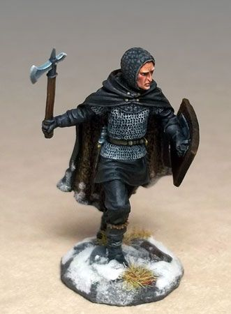 Night's Watch Warrior with Weapon/Shield Choices - George R.R. Martin Masterworks - Miniature Lines