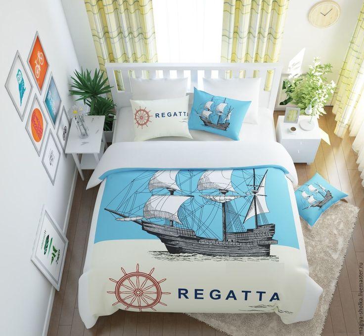 """Купить Постельное бельё """"Регата"""" с принтом - постельное белье, постельное с принтом, современный дизайн"""