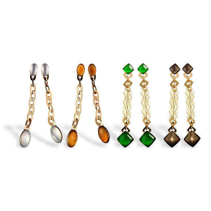 vhernier earrings with stone