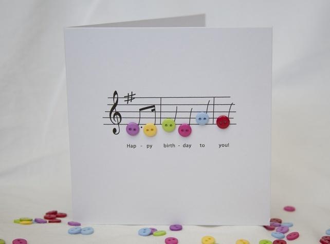 Happy Birthday Music Card