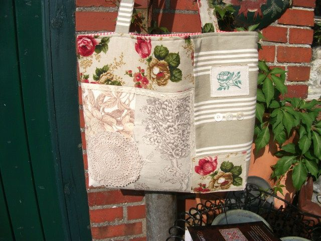 Shopper, vintage fabric