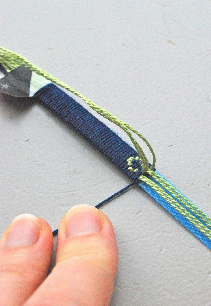Bracelet tissé de http://mamaskram.blogspot.ch