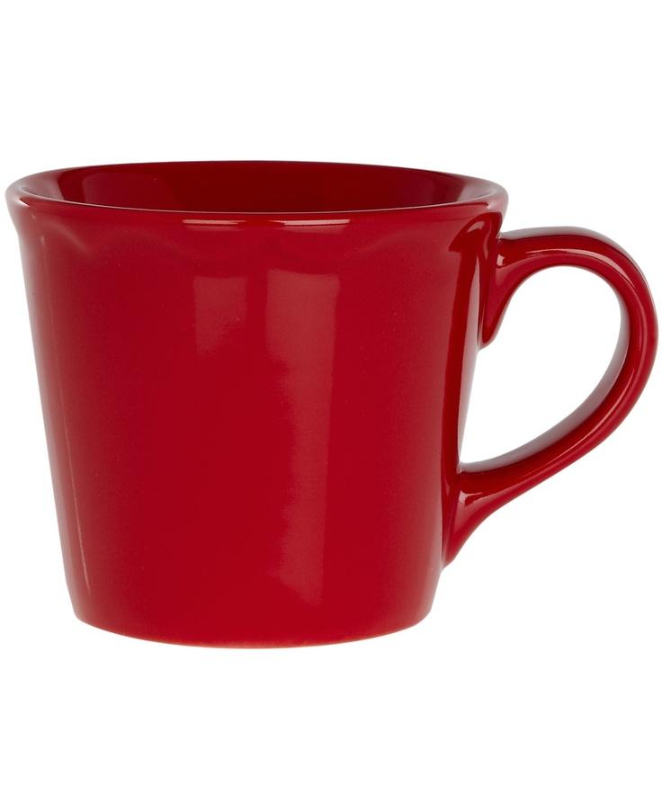 Poppy red scalloped ceramic mug fishs eddy dinnerware for Fishs eddy dinnerware