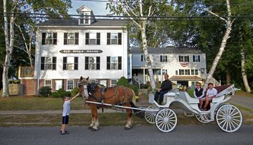 Horse Carriage rides at the Old River House. Kennebunkport, Maine