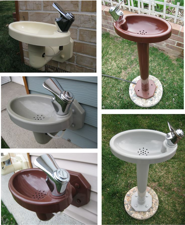 Outdoor drinking fountain for the kids in the back yard. Then they don't come in the house every five minutes begging for a drink.