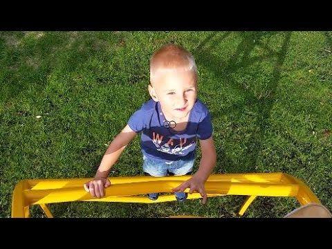 Outdoor playground, blue orange