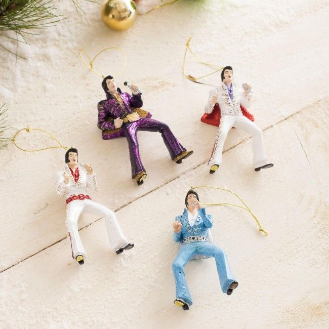 It'll be a blue, blue blue blue Christmas without an Elvis ornament.