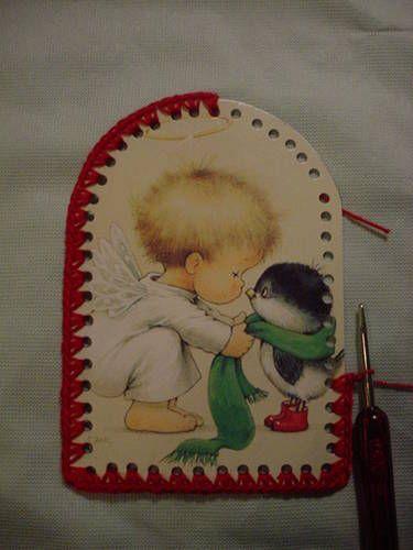 By Request CROCHET CHRISTMAS CARD ORNAMENT - CROCHET