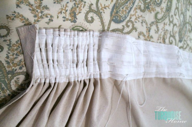 Diy Easy Pleated Curtains From Sloppy To Structured Note To Self Note And Pleated Curtains