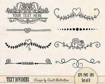 Tafel Text Divider ClipArt / / Plus Photoshop von thePENandBRUSH