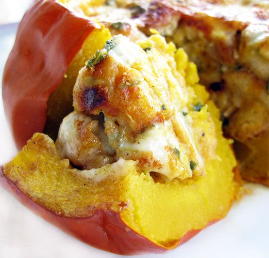 Cheesy Stuffed Pumpkin, Honest Fare by Gabrielle Arnold-- this one looks delicious and right up my alley