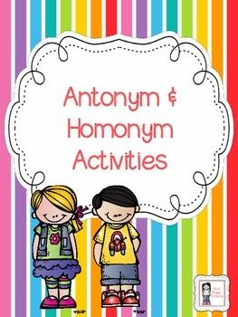 $1 for 32 pages of antonym and homonym goodness!