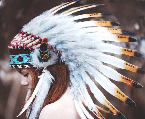 native girl and headdress