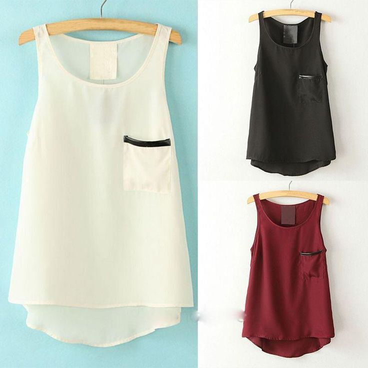 4€ Aliexpress.com: Comprar 2016 Nueva Camiseta Tops de Cuello Redondo Sin Mangas Asimétrica Camisa de Estilo Simple de la Mujer Tees de camisa fiable proveedores en Clothing -Beautiful angel