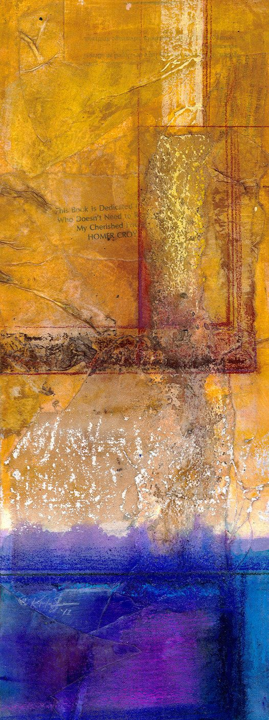 Mixed media Abstract  2  by Kathy Morton Stanion