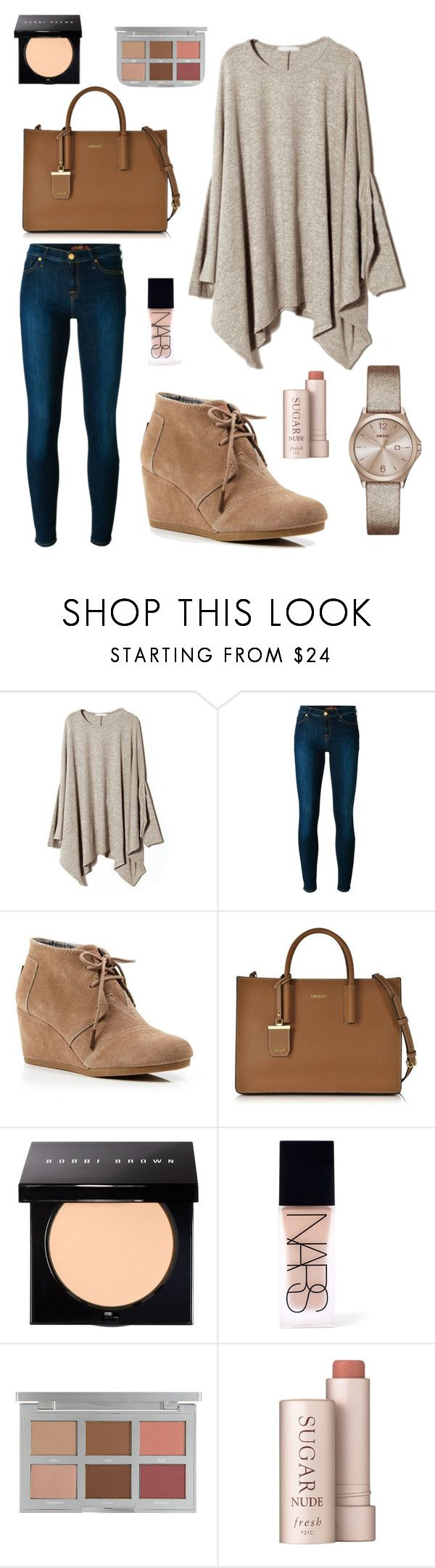 """""""902"""" by chloemaespann ❤ liked on Polyvore featuring 7 For All Mankind, TOMS, DKNY, Bobbi Brown Cosmetics, NARS Cosmetics, Fresh, women's clothing, women's fashion, women and female"""