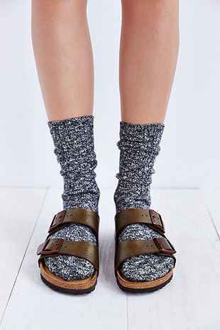 Birkenstock Arizona Soft Footbed Metallic Sandal - Urban Outfitters