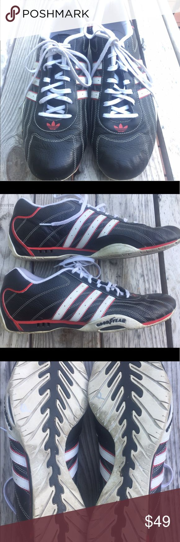 Team Adidas Goodyear Adi racing shoes Men's size 13 Team Adidas Goodyear Audi racer driving shoes. Black, red, and white leather upper. Minor wear. Great condition. adidas Shoes Sneakers