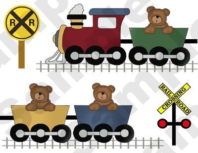 "Teddy Bear Train Nursery Wall Border Stickers measures 17"" long."