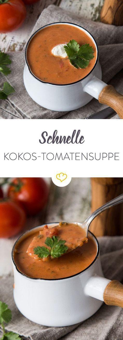 Eine Handvoll Zutaten, einen Topf und 20 Minuten - mehr brauchst du für eine cremige Tomatensuppe nicht. Schmeckt abends und am nächsten Tag im Büro.
