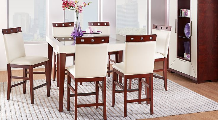 Sofia Vergara Savona Ivory 5 Pc Counter Height Dining Room from  Furniture