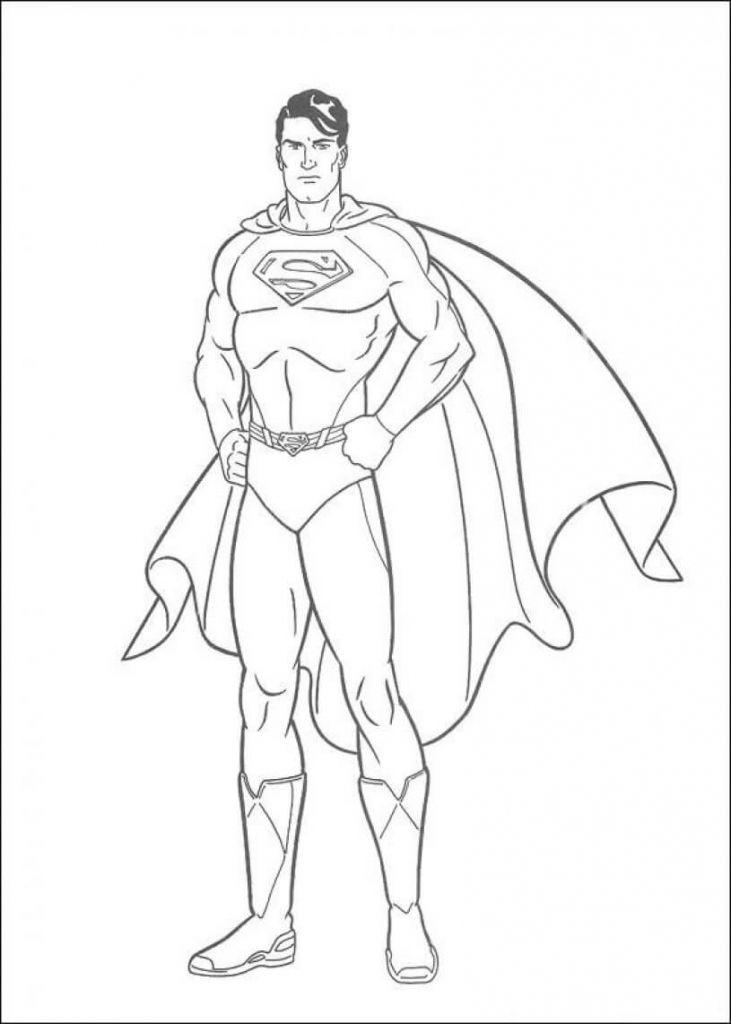 40 Amazing Superhero Coloring Pages You Can Print Goruntuler Ile Boyama Sayfalari Supermen Cizim