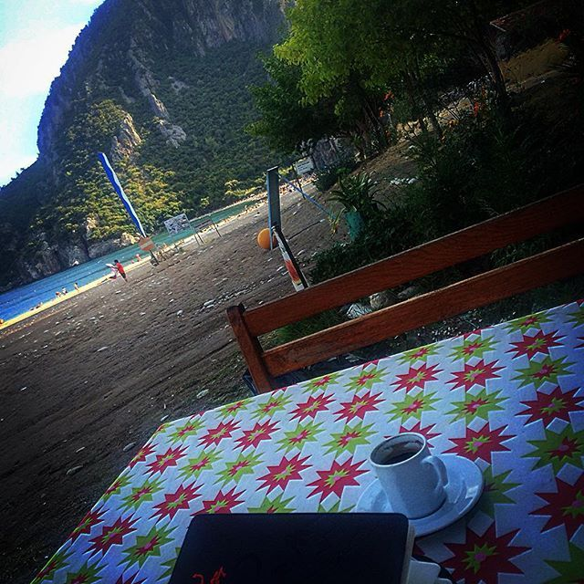 #peace #perfection #mountain  #çıralı #olympos #beach #sea #sky #coffee #writing #antalya #turkey #nature