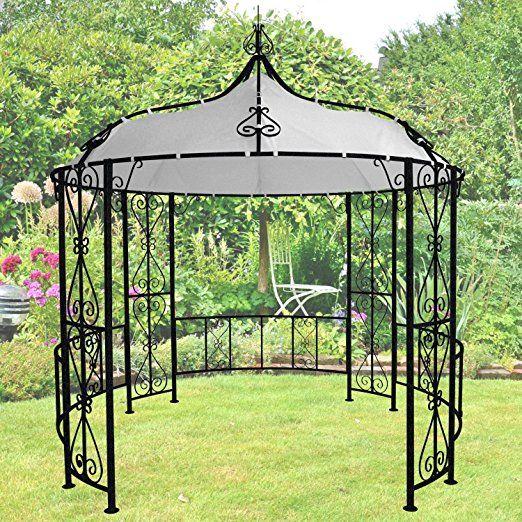 Trend Gartengazebo Savonna Durchmesser cm H he cm Eine Topaufwertung f r ihren Garten schwarzes pulverbeschichtetes Eisen Polyester mit PVC